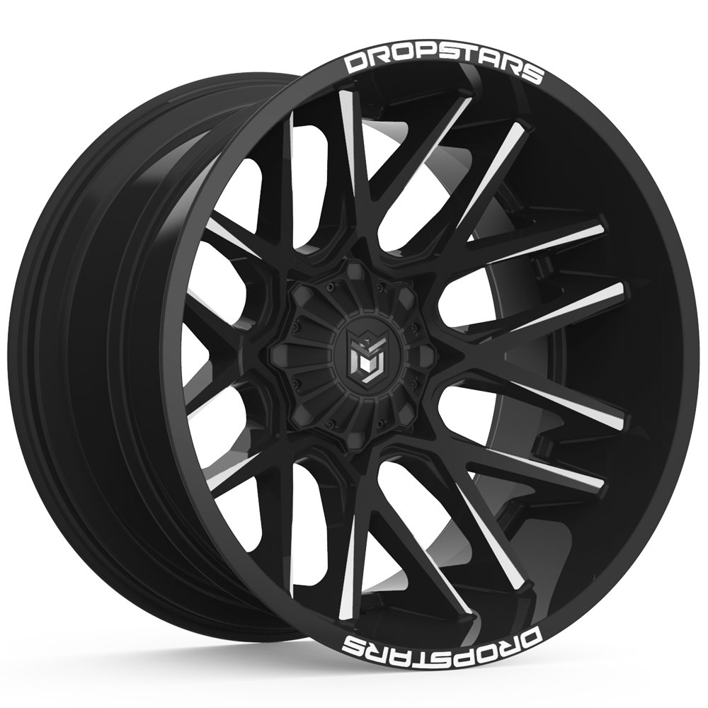 Dropstars 654BM Gloss Black Milled 22x14 6x135 / 6x5.5 -76mm (654BM-2246876)