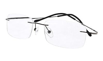Eyekepper Titanium Rimless Reading Glasses Readers Men Women