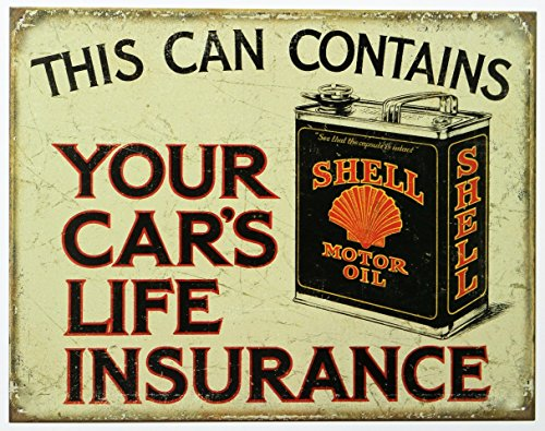 "ART/ARTWORK - Licensed Collectibles, Vintage, Antique And Original Designs - LOVELY AUTO THEMED HOME / OFFICE DECOR - SHELL OIL ""Your Car's Life Insurance"""