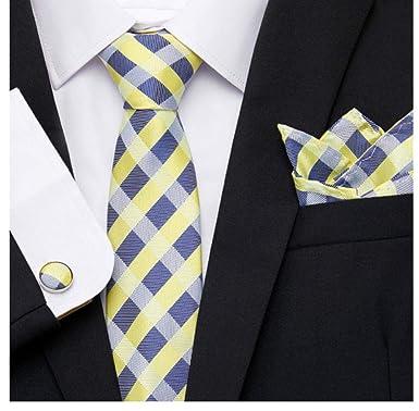 LYEXO Corbatas Corbata Corbata Para Hombre Seda Estampado A ...