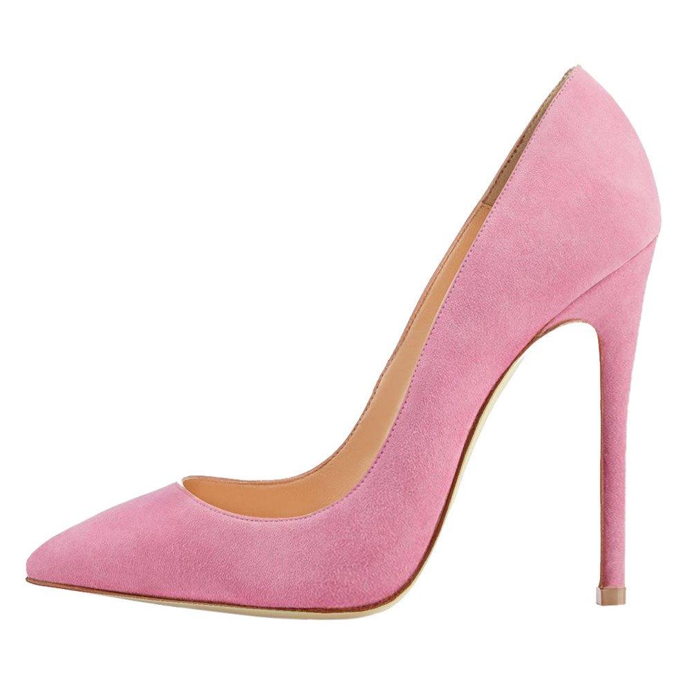 Caitlin Pan Femmes EscarpinsTalons Hauts/12 de Slip Semelle on Bout Pointu/Bout Ouvert Semelle Rouge 6,5CM/10 CM/12 CM Pompes Talon Aiguille Chaussures de Bal Pink Suede-10cm/Semelle Rouge 1319fe1 - reprogrammed.space
