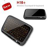2.4GHz Backlit Mini Wireless Keyboard with Full Screen Touchpad Mouse Combo for PC,Smart TV,Google Android TV Box,HTPC,IPTV,Raspberry pi 3,Pad and More USB Port Device