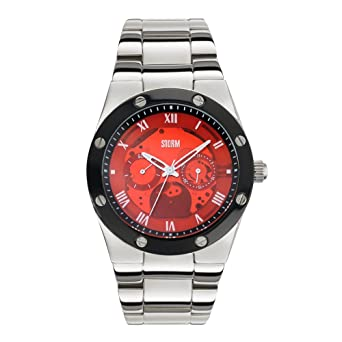 storm tempa red mens watch red dial and stainless steel storm tempa red mens watch red dial and stainless steel bracelet
