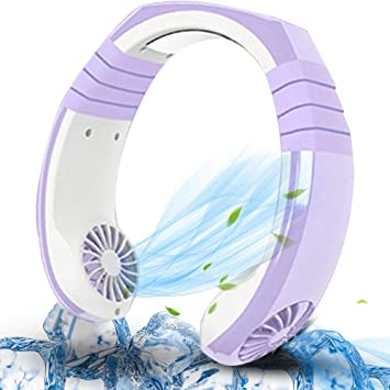 Portable 2 In 1 USB Micro Hanging Neck Fan Air Cooler Electric Air Conditioner