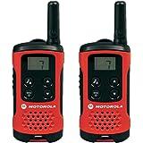Motorola Talker T40 2 Way Walkie Talkie Radio - Black/Red (Pack of 2)