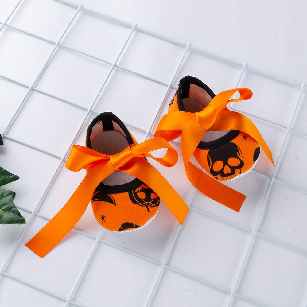 WINZIK Newborn Baby Girls My 1st Halloween Outfits Pumpkin Romper Bodysuit Tutu Dress Costume 4Pcs Clothes Set