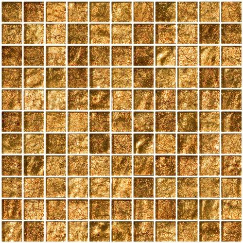 Susan Jablon Mosaics - 1 Inch Golden Rust Metallic Glass Tile