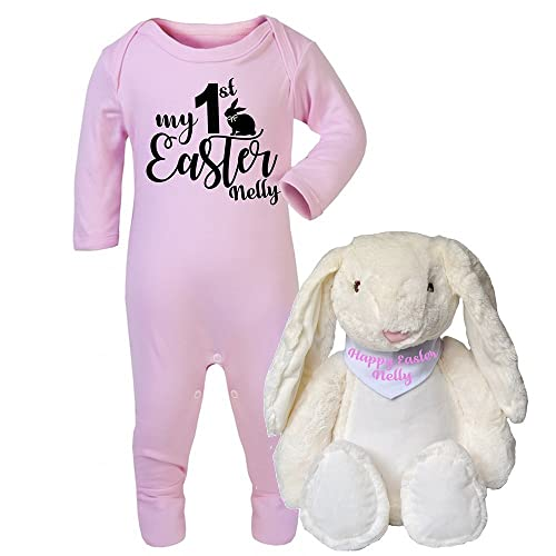 Personalised my first easter babygrow and bunny teddy set new baby personalised my first easter babygrow and bunny teddy set new baby gifts newborn baby gifts personalised negle Choice Image