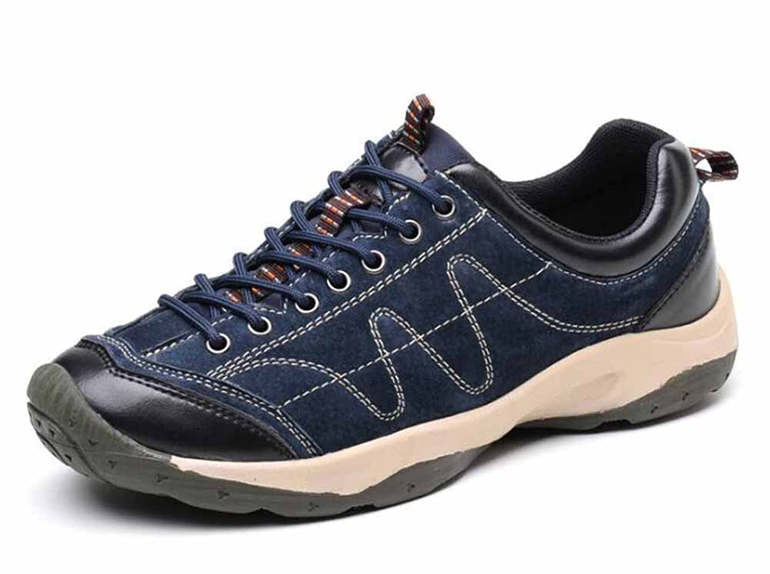 Men Breathable Climbing Shoes Outdoor Leather Shoes Waterproof Hiking Shoes  Low Top Sports Shoes: Amazon.co.uk: Shoes & Bags
