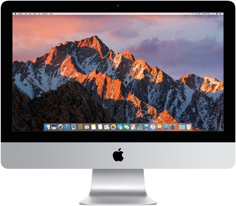 Apple iMac MNE02LL/A 21.5 Inch, 3.4GHz Intel Core i5, 8GB RAM, 1TB Fusion Drive, Silver (Renewed)