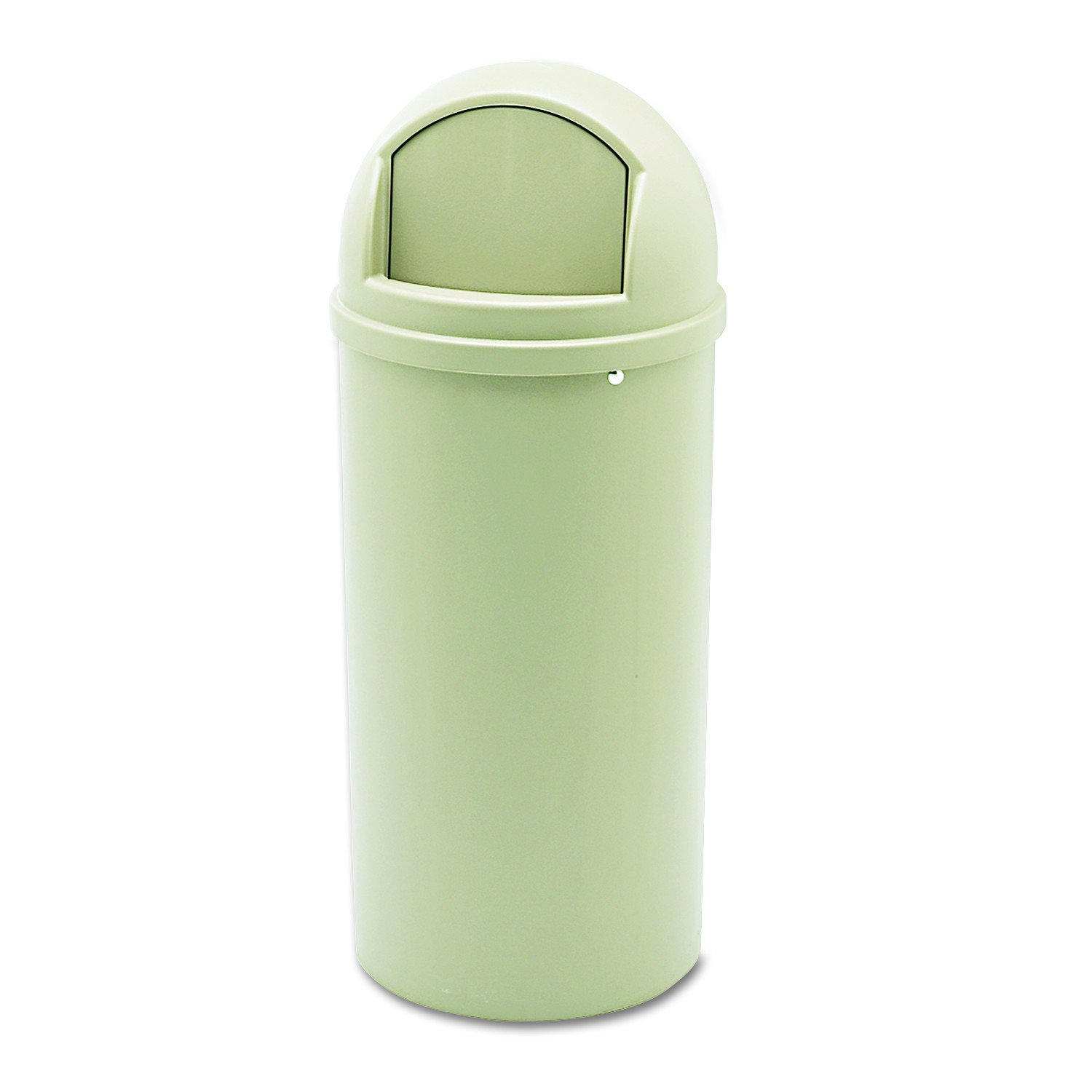 Rubbermaid Commercial Marshal Classic Trash Can, Round, 15-Gallon, Beige, FG816088BEIG