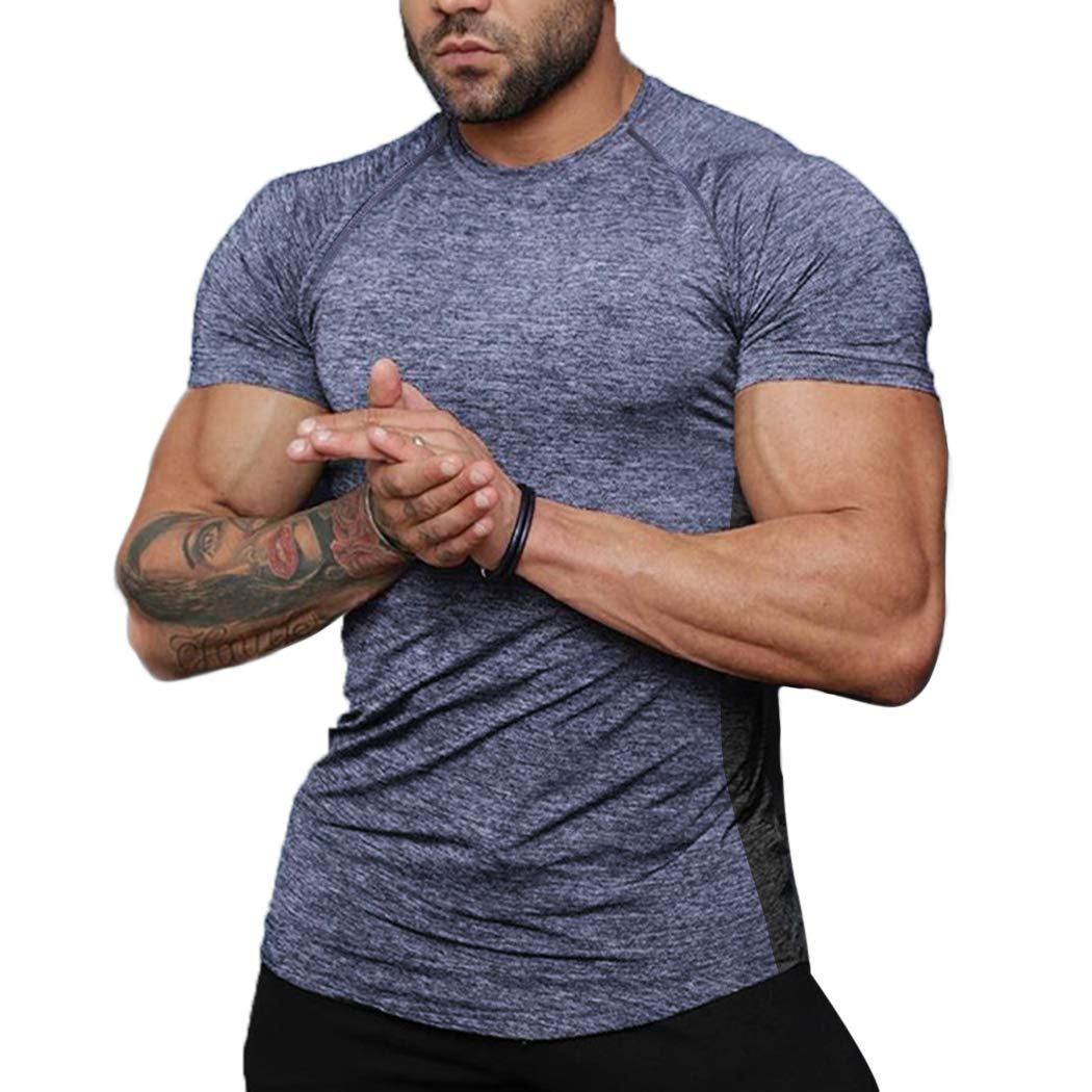 COOFANDY Men Raid Fitness Cool Dry Moisture Wicking Activewear Jersey Tee Shirt by COOFANDY