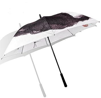 WKAIJCK Paraguas Extra Grande Doble Señora Protección UV A Prueba De Viento Fibra De Vidrio DE