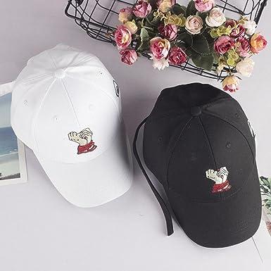 70c6c6e1ff7 Familizo Embroidered Summer Cap Unisex Hats Casual Hats Hip Hop Baseball  Caps (❤️Black)  Amazon.co.uk  Clothing