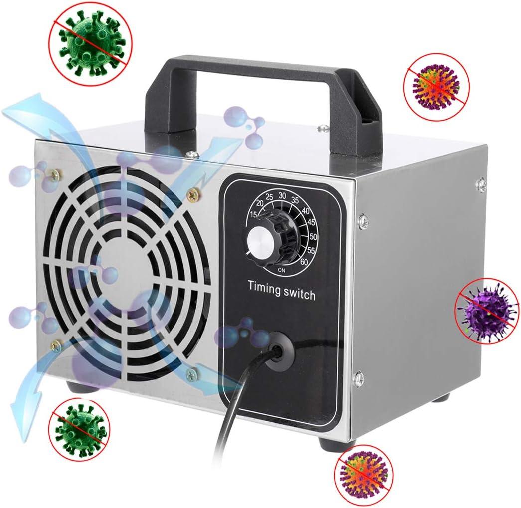 KKmoon 24g/h Generador de Cerámica Portátil del Ozono/Purificador de Aire Integrado/Generador de Ozono Coche/Generador de Ozono Purificador/Generador de Ozono Agua