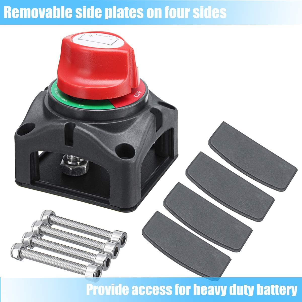 Motopower Mp69157 Battery Switch Battery Isolator 1 2 Both Off Battery Disconnect Master Cutoff Switch For Marine Boat Car Rv Atv Utv Vehicle Automotive Battery Switches