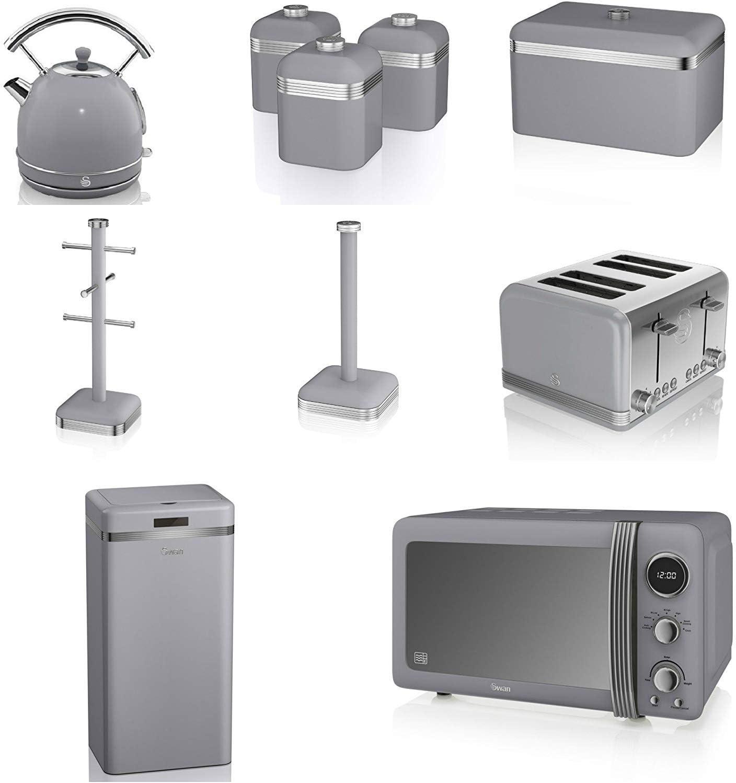 Swan Grey Kitchen Appliance Retro Set Of 10 Amazon Co Uk Kitchen Home