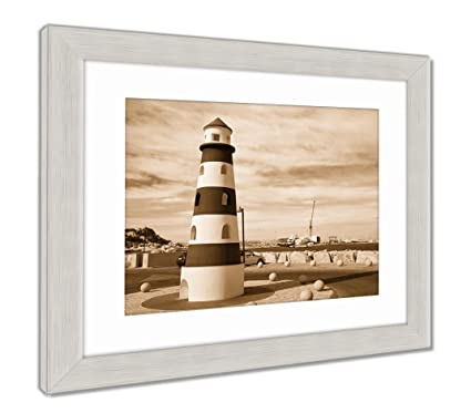Amazon.com: Ashley Framed Prints Denia Lighthouse Monument ...