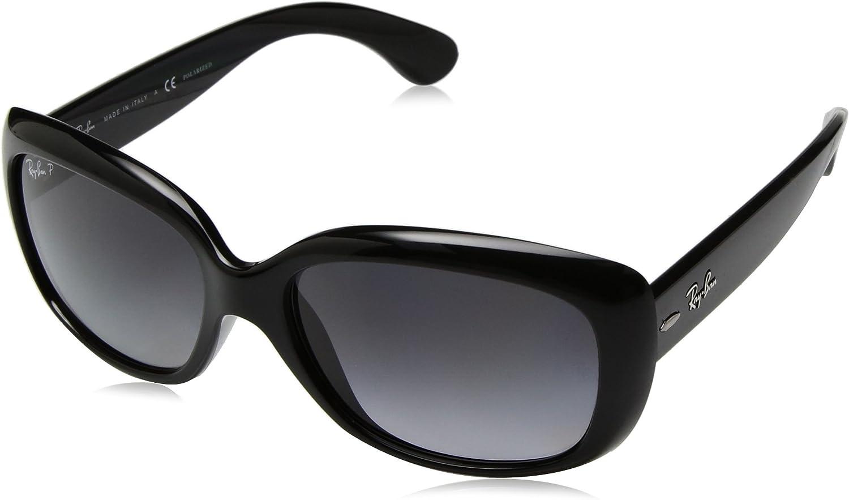 RAY-BAN 4101 Gafas de sol, Shiny Black, 57 para Mujer