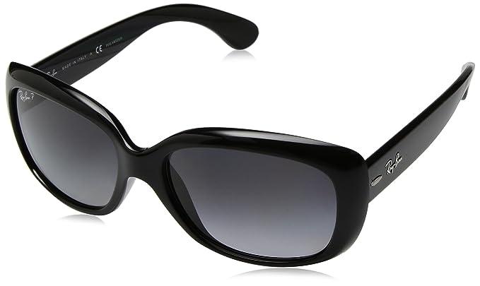 RAY BAN RAY-BAN Damen Sonnenbrille »JACKIE OHH RB4101«, schwarz, 601/T3 - schwarz/grau