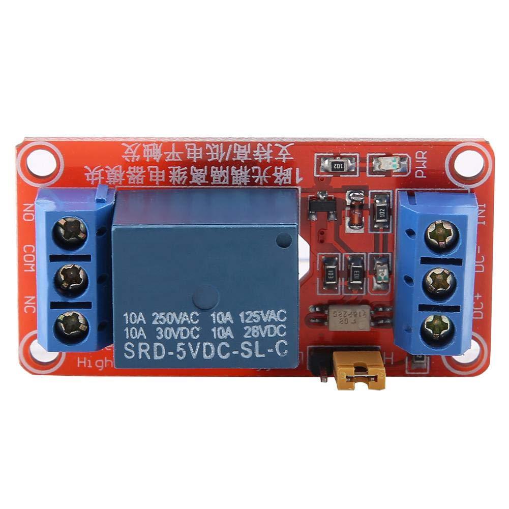 12V 24V Carte Relais Isolement par Photocoupleur Module de Relais Arduino 1 Canal Carte dExtension de D/éclencheur de Bas Niveau 5V 24V