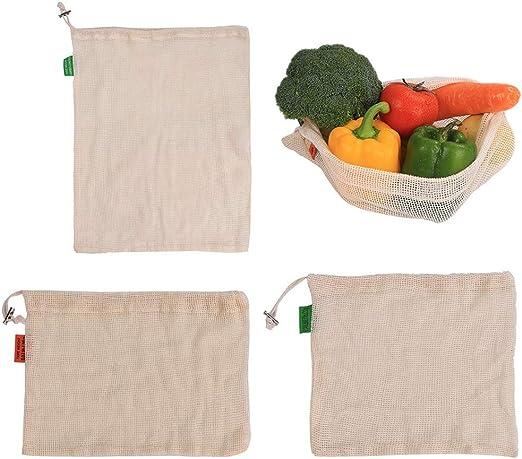 Hankyky S/M/L cordón de algodón portátil bolsa de malla de frutas ...