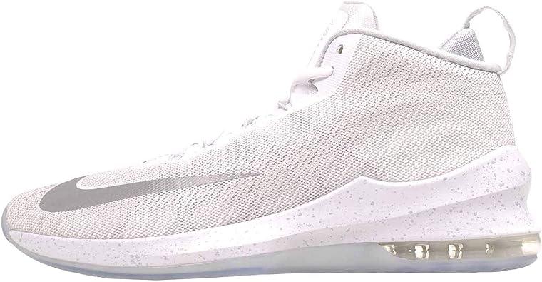 Campo Sinceramente tienda  Amazon.com | Nike Air Max Infuriate Mid Premium Men's Basketball Shoes White/Metallic  Silver Size 9 | Basketball