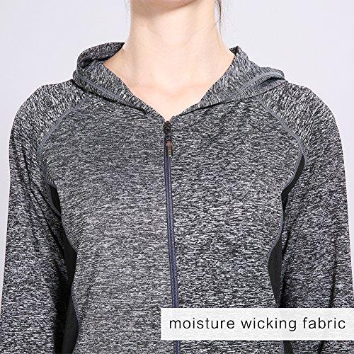 Sitong Athlétique Femmes Soprtswear Veste à capuche extensible veste légère