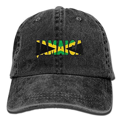 MCWO GRAY Mens/Womens Jamaica Icon Denim Hat Baseball Hat Cotton Black