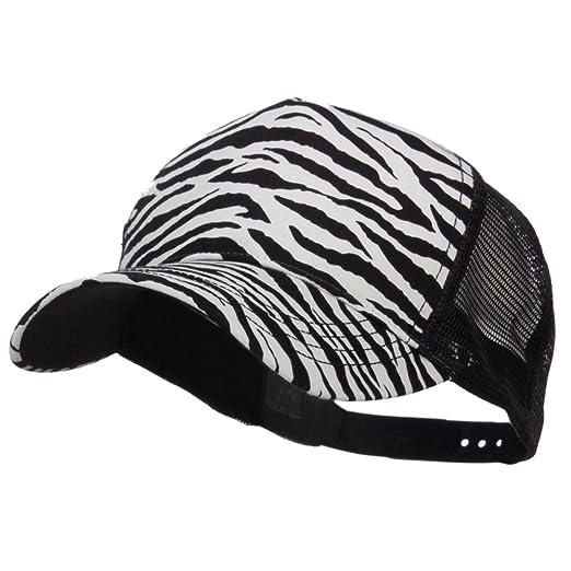 a5f78161046 MG Animal Print Fashion Trucker Cap - Black White OSFM at Amazon ...