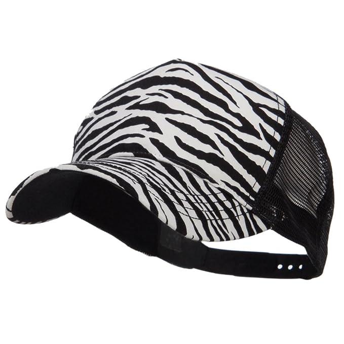59ea6d13f26f8 MG Animal Print Fashion Trucker Cap - Black White OSFM at Amazon ...
