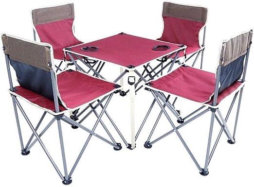WOYQS Silla Camping Juego de 5 Piezas Ocio Silla Plegable for ...