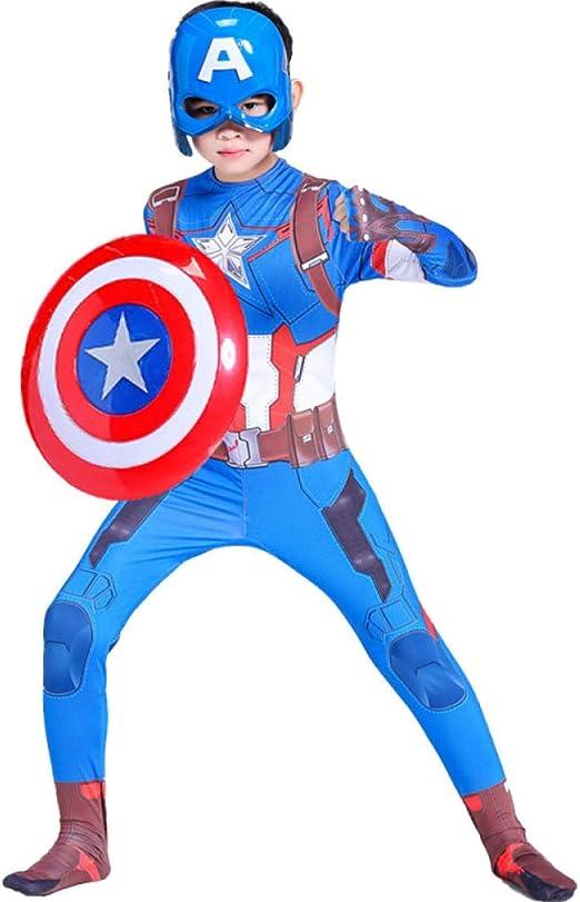BLOIBFS Disfraz Capitán América para Niño Disfraces Y Accesorios ...