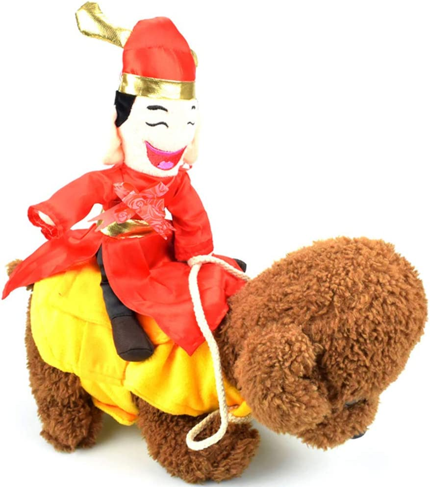 Herewegoo - Disfraz de Vaquero para Mascota, diseño de Caballo Montando con Monedero, Juguete de decoración para Gato, Perro, Cachorro, 02, X-Large