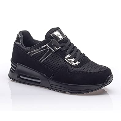Women's Breathable Fashion Walking Lightweight Athletic Running Shoes BLCKS-523