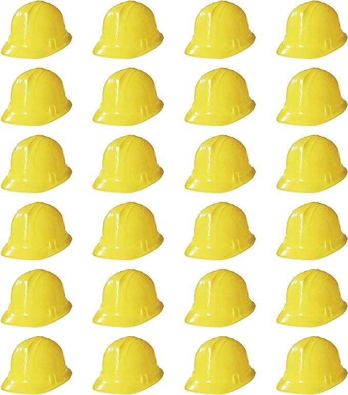 Novelty Place Cascos de Construcci/ón para Fiestas Disfraces Cascos Suaves para Ni/ños y Adultos Paquete de 24