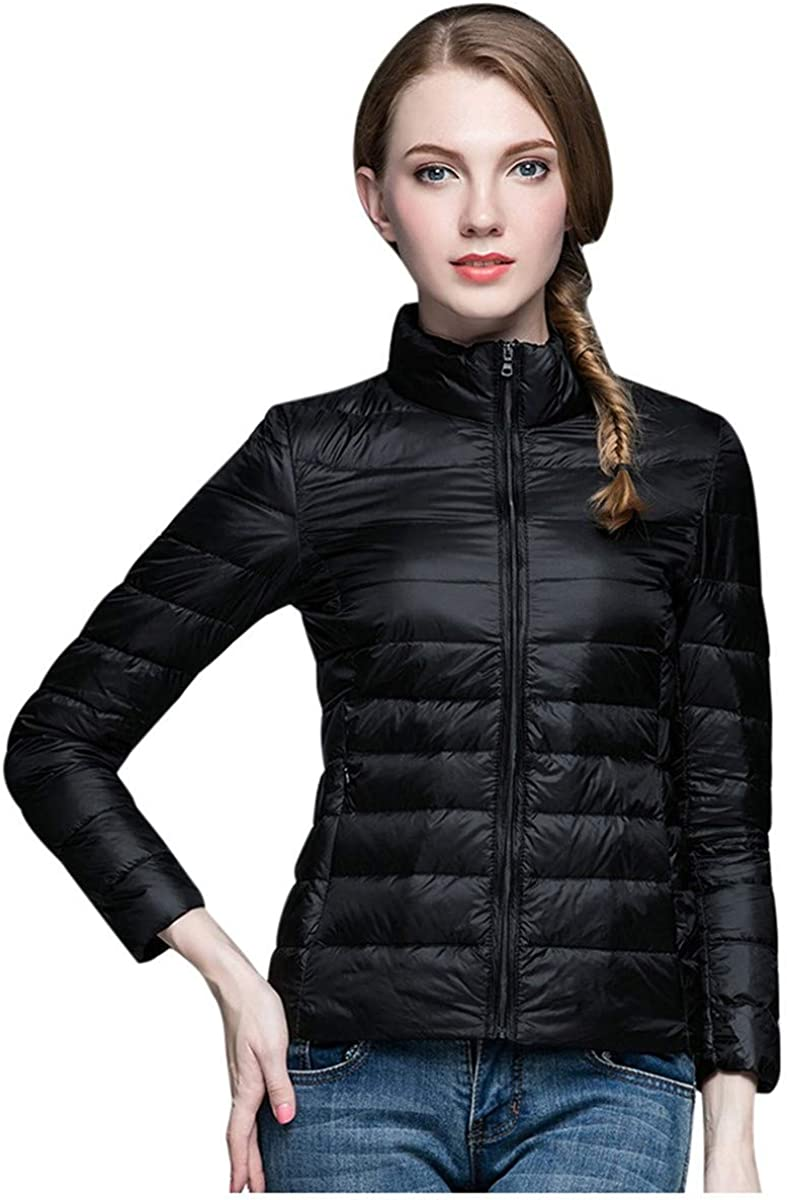 Thenxin Womens Down Jacket Winter Warm Packable Ultra Lightweight Short Puffer Outwear