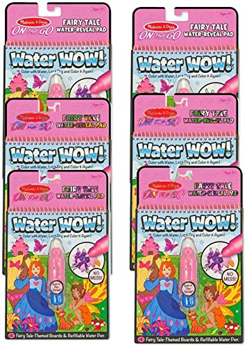 Melissa & Doug On the Go Water Wow! Activity Book, 6-Pack – Fairy Tale Toy