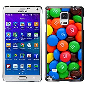[Neutron-Star] Snap-on Series Teléfono Carcasa Funda Case Caso para Samsung Galaxy Note 4 [Caramelo dulce colorido brillante Azul Rojo Verde]