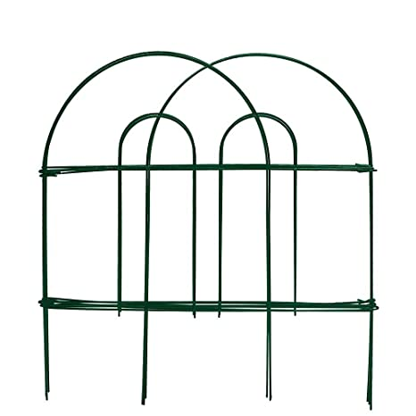 Amagabeli Decorative Garden Fence 18 In X 50 Ft Rustproof Green Iron  Landscape Wire Folding Fencing
