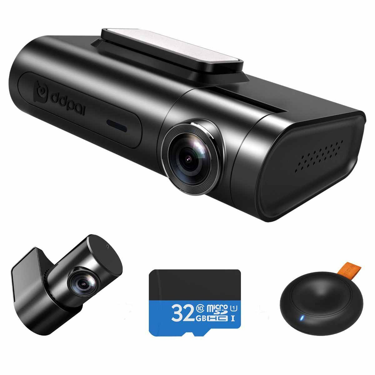 DDPai X2 pro Digital Dual Channel Dash cam , WQHD 2K (25601440) Loop recording, Remote Snapshot, Time lapse Parking mode, Built-in Wi-Fi, G Sensor, GPS, WDR, UP to 128G support