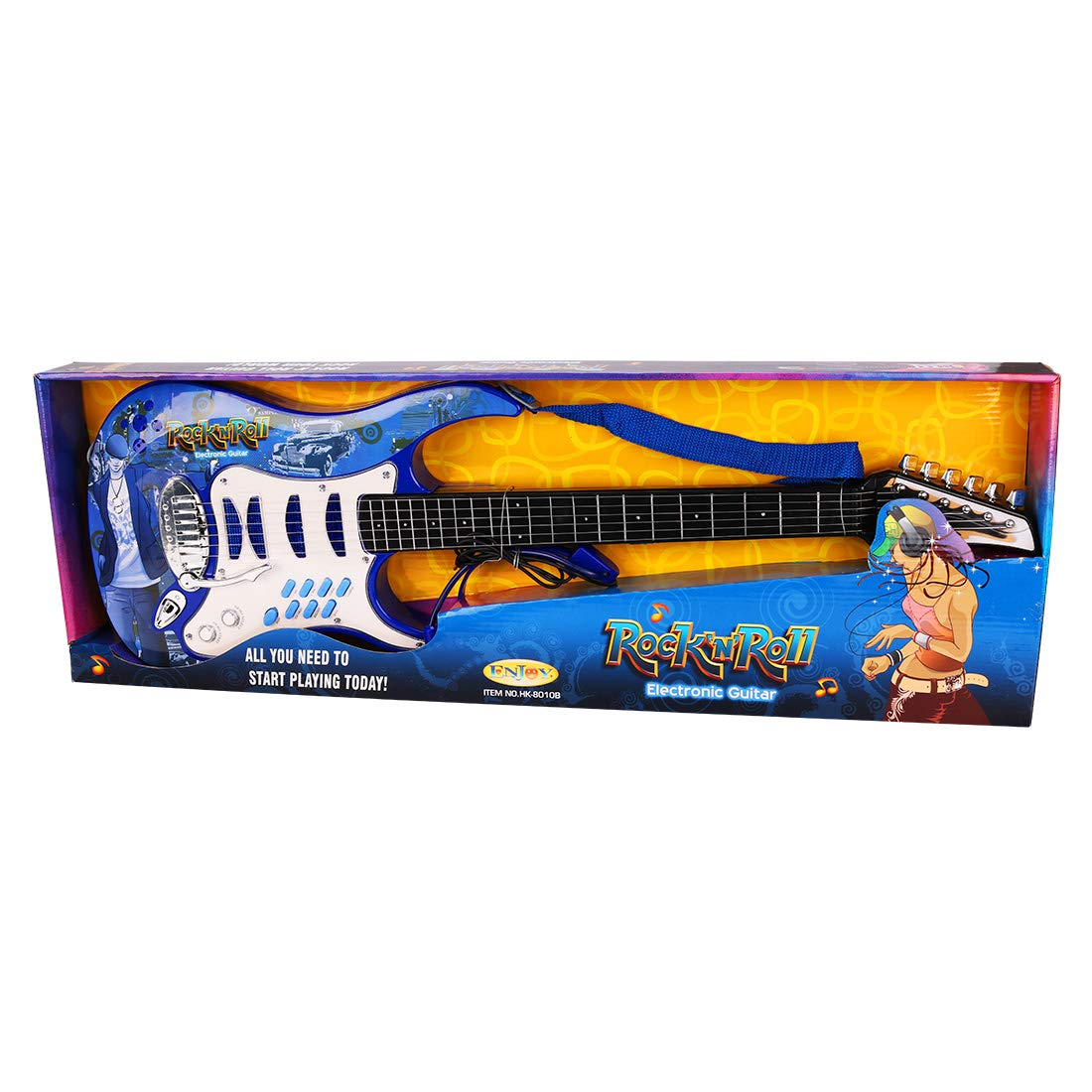 Amazon.com: WOLFBUSH Electric Guitar for Children 6 Strings Guitar ...