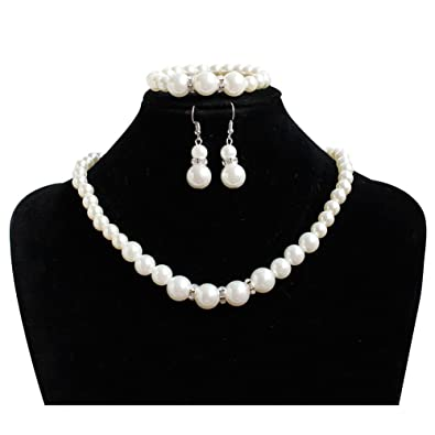 306a345b5224a Amazon.com: Handmade Cultured Pearl Strand Statement Crystal ...