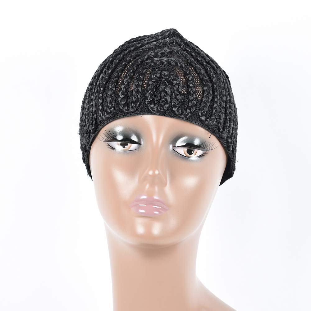 MY LIKE Mother's Day Gifts for Mom Clip in Cornrow Crochet Braided Wave Wig Cap Waving Braiding Wig Caps Crotchet Cornrows For Easier Sew In Caps for Making Wig (3pcs) by MY LIKE