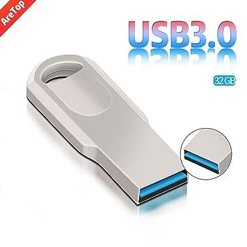 Memoria USB 3.0 Flash Drive Memoria USB Impermeable Alta Velocidad Memoria Externa Memoria USB Robusta con Llavero para PC Ordenador Portátil (32.0GB), ...