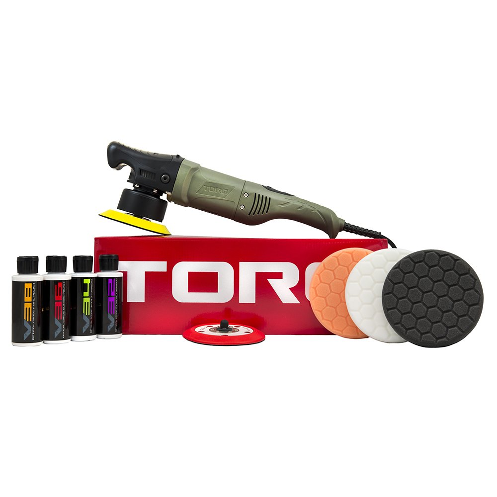 TORQ BUF501X 10FX Random Orbital Polisher Kit (Polisher + 9 Items)