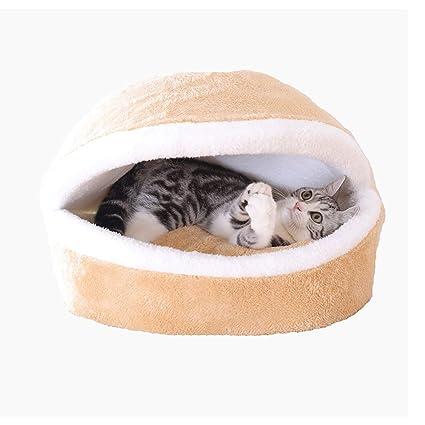 YAGEER gouwo Cama para Gatos Saco de Dormir para Mascotas casa para Gatos Cama para Gatos