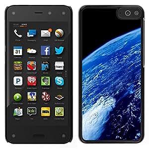 // PHONE CASE GIFT // Duro Estuche protector PC Cáscara Plástico Carcasa Funda Hard Protective Case for Amazon Fire Phone / Earth Atmosphere Blue Planet Space Ocean /