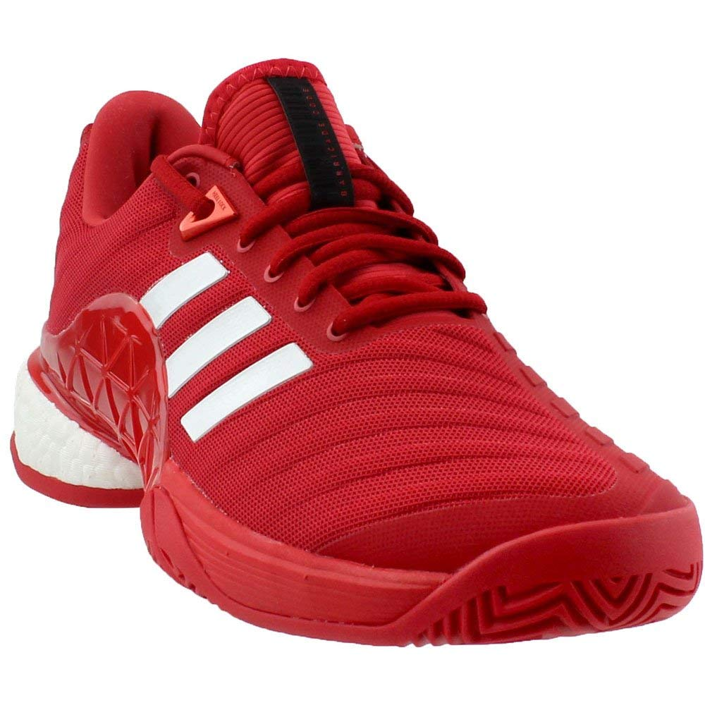 low priced b4ea0 f738e Galleon - Adidas Mens Barricade 2018 Boost Real CoralWhiteReal Coral 8.5  D US
