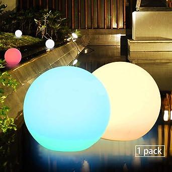 Obell - Luces LED flotantes, 30 cm, con luz solar, 10 RGB,